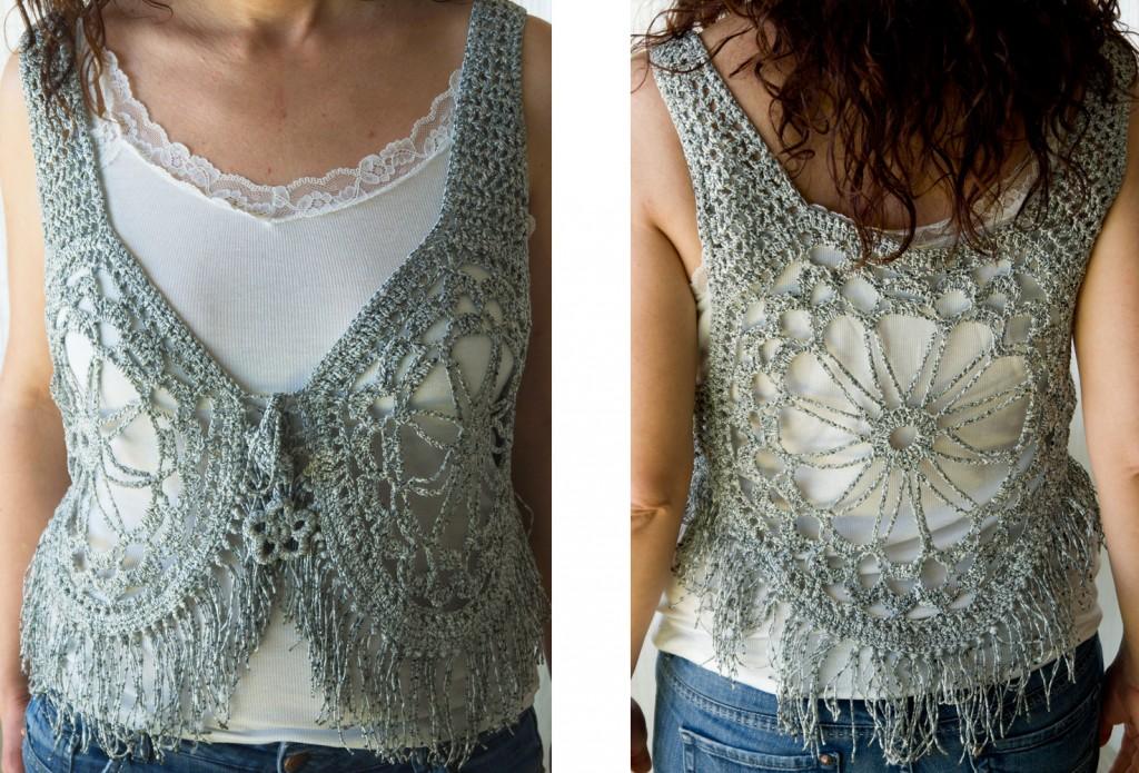 Secretos de la lana chaleco sexy hippy chic