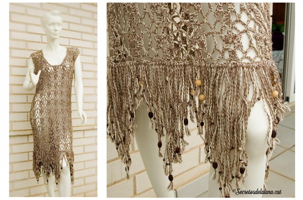 secretos de la lana vestido fiesta tejido