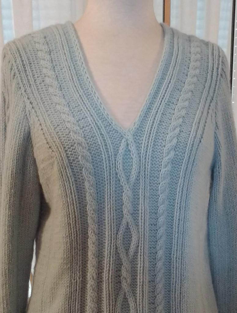 secretos de la lana jersey azul parte superior