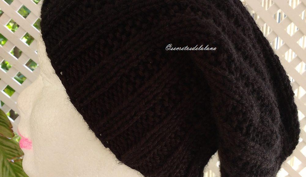 Gorro caido negro secretos de la lana jpg 1000x580 Gorros de lana caidos be328147b8d